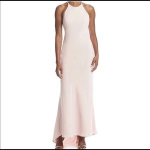Calvin Klein Dresses Nwt Crepe Halter Gown Poshmark